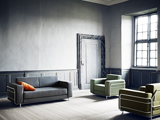 Silver sofa by Softline A/S