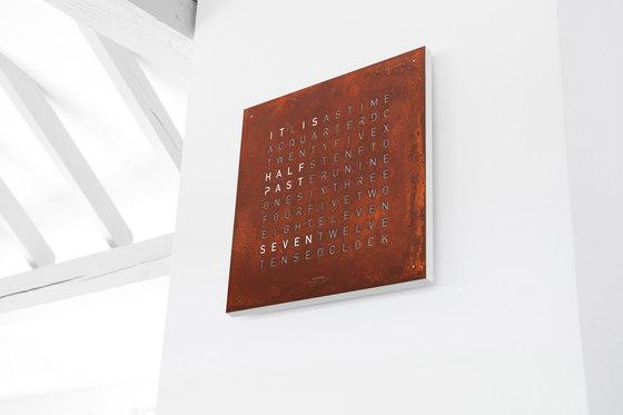 QLOCKTWO® CLASSIC CREATOR'S EDITION Rust von BIEGERT&FUNK