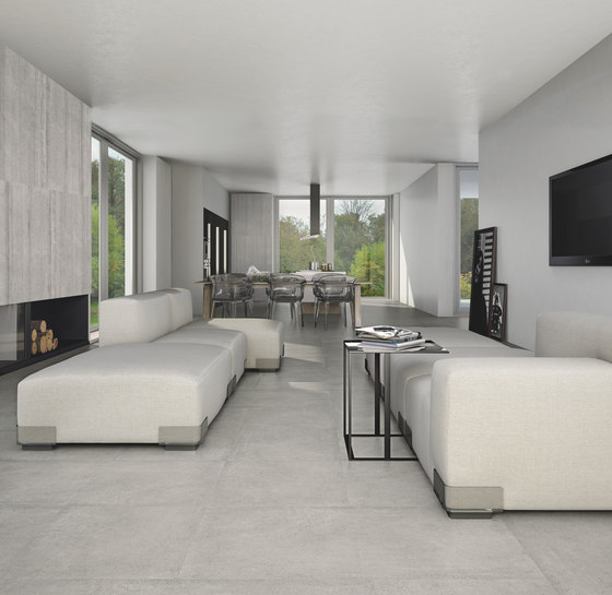 Cemento rasato bianco de Casalgrande Padana