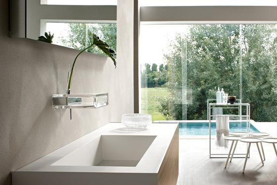 Glass tap-shelf by Toscoquattro