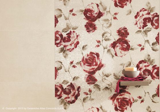 Ewall White Roses by Atlas Concorde