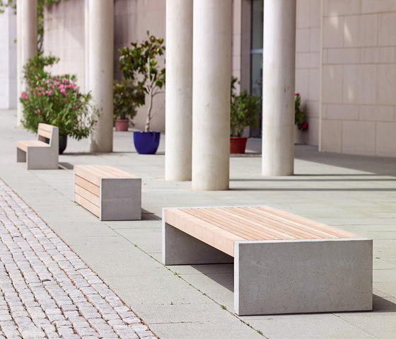 Versio genus Bench with seat SMALL by Westeifel Werke
