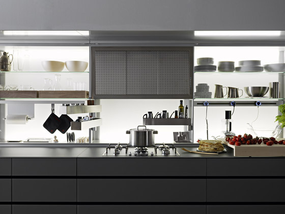 New Logica System Vitrum | Cemento by Valcucine