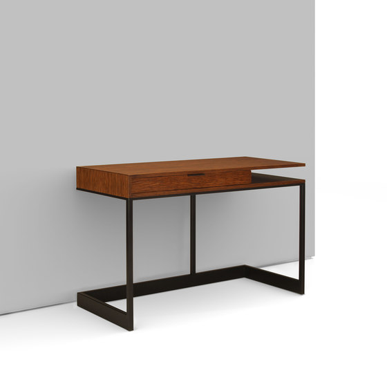wishbone 2-drawer high table by Skram