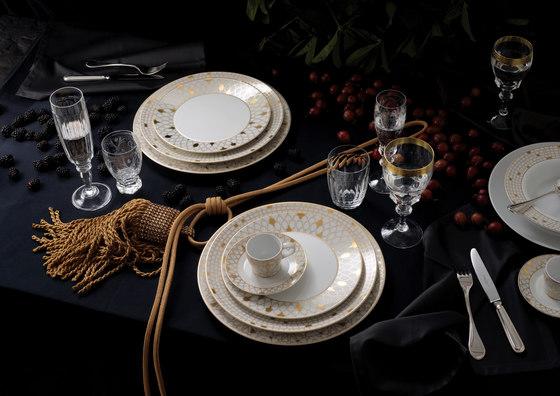 AURÉOLE DORÉE Pasta plate by FÜRSTENBERG