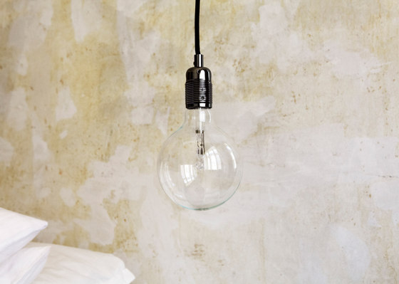 E27 pendant Black Chrome / White Cable by Frama