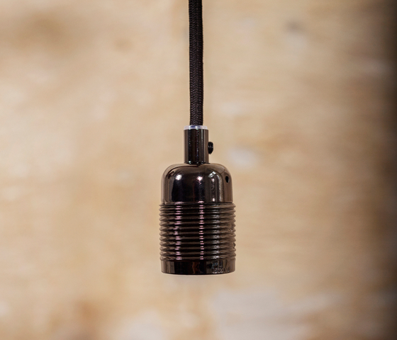 E27 pendant Matt Black / Black Cable by Frama