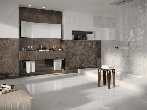 Mosaico 3d bianco statuario jw 01 by Mirage