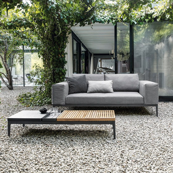 Grid Chill Chaise Unit by Gloster Furniture GmbH