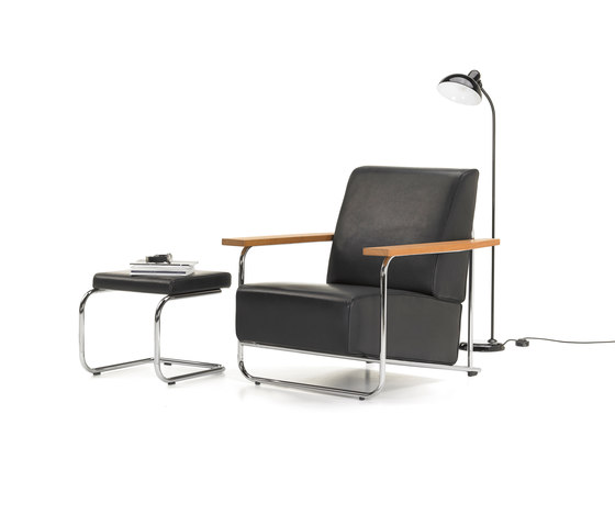 Lovell Easy Chair Ottomane Steel de VS