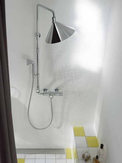AXOR 240 2jet overhead shower with shower arm by AXOR