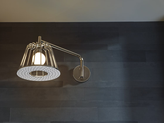 AXOR Nendo Shower Lamp 24x24 cm DN15 con connessione a soffitto di AXOR