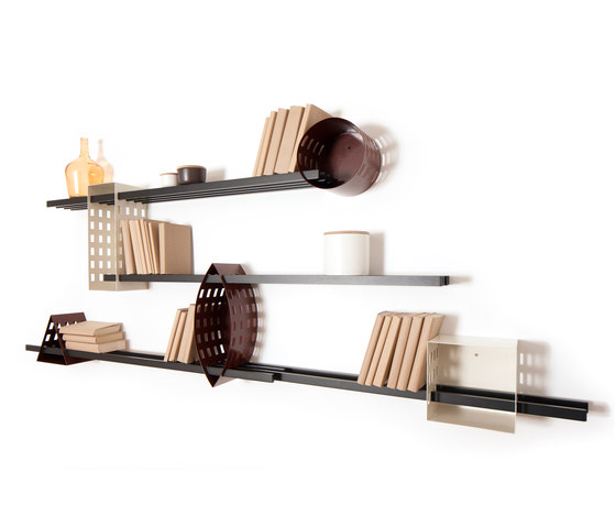 Ray Shelf - Mono Shelving System by Matteo Gerbi Limited