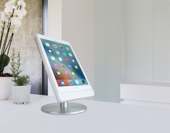 Eve wall mount for iPad - brushed black by Basalte
