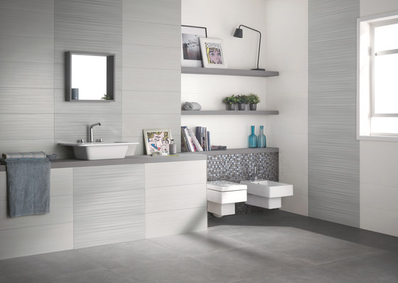 Dress up graphite wandfliesen von ceramiche supergres architonic - Bagno moderno mosaico ...