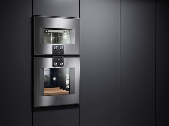 double oven 400 series bx 480 bx 481 ovens from gaggenau architonic. Black Bedroom Furniture Sets. Home Design Ideas