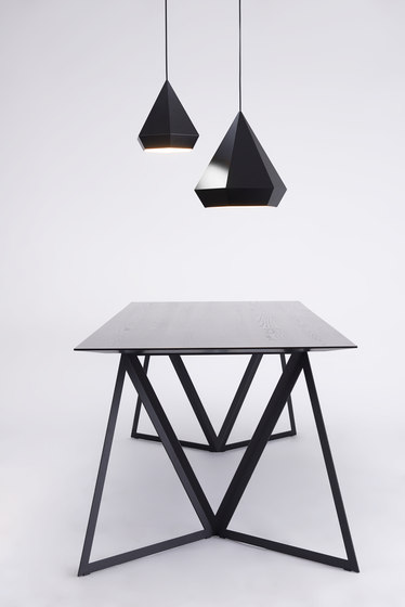 Steel Stand Table - korallenrot/ eiche von NEO/CRAFT