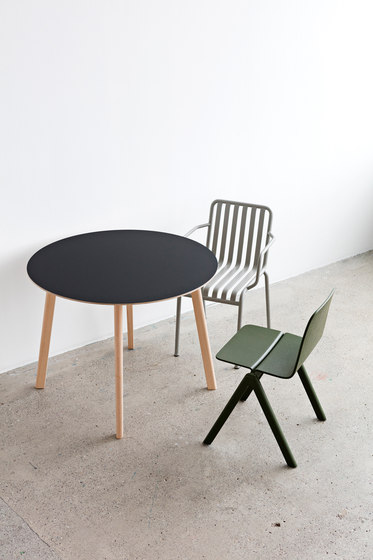 Copenhague Moulded Plywood Table CPH110 by Hay