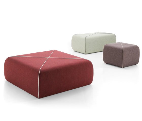 CROSSED Pouf oblong by B-LINE