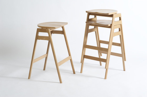 Svelto | Round Stacking Stool by ercol