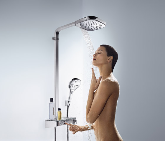 Hansgrohe Raindance Select S 240 2jet overhead shower with ceiling connector 100 mm by Hansgrohe