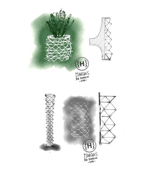 Marquis planters by Vondom