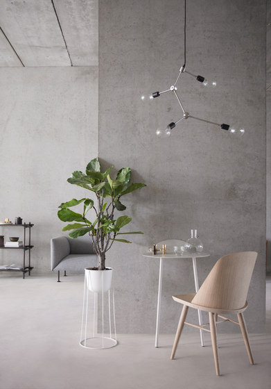 Yeh Wall Table, Low, Light Grey by MENU