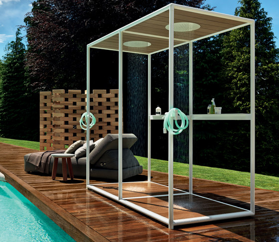 Wazebo outdoor shower pavilion - double version di Kos