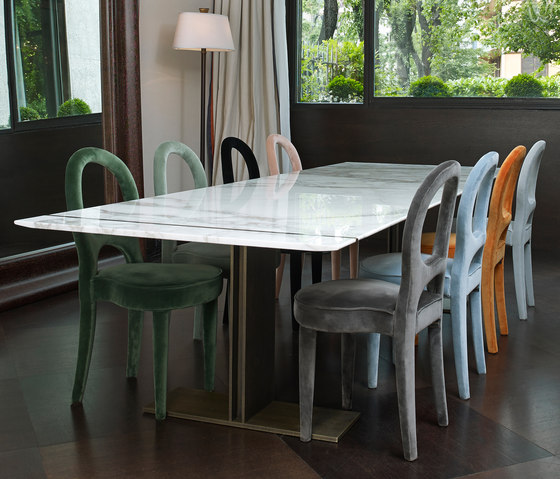 Manfred Marmo dining table by Promemoria