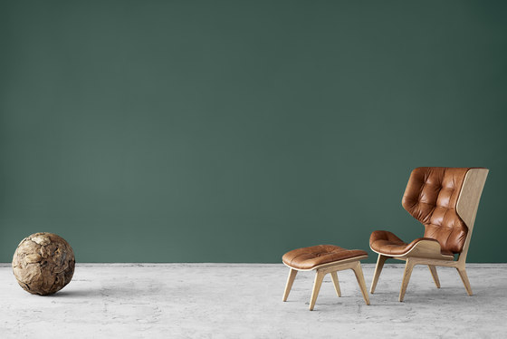Mammoth Chair, Dark Stained / Wool: Forrest Green 053 by NORR11