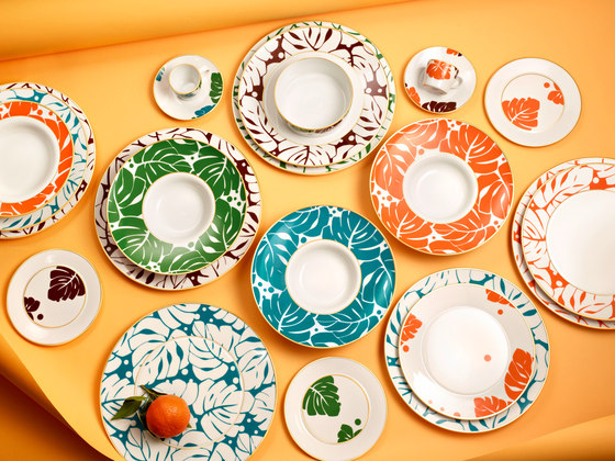 AURÉOLE COLORÉE Breakfast plate by FÜRSTENBERG