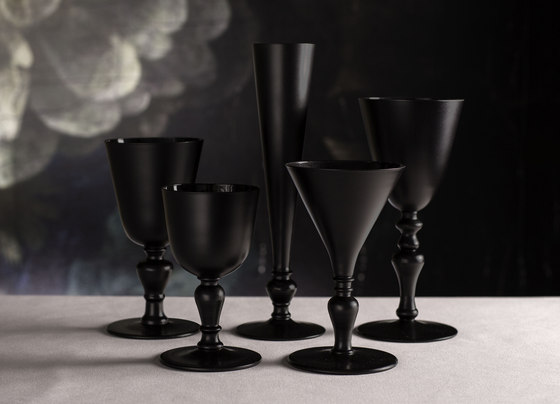 Glass series AA black 27cl by Droog