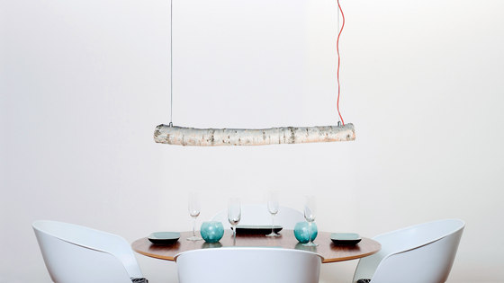 Trunk Suspended lamp by Trentino Wood & Design
