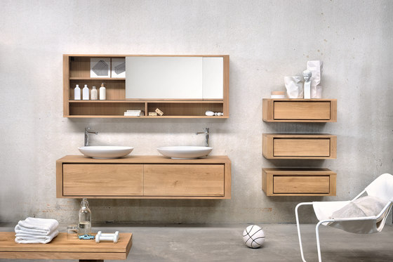 Shadow wall mounted base unit vanity units from for Meuble toilette