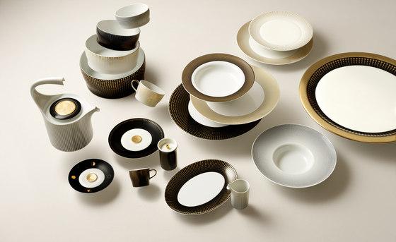 AURÉOLE CLAIR DE LUNE Tea/Cappuccino cup, saucer by FÜRSTENBERG