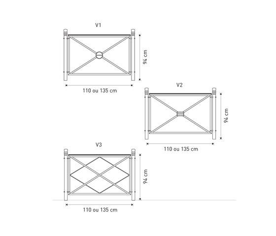 Vesta mesh bench by Concept Urbain