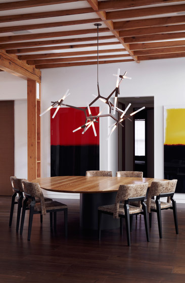 Agnes pendant 2 lights black by Roll & Hill