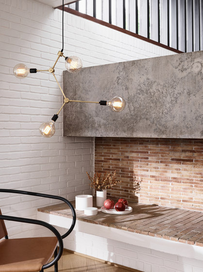 Tribeca Series | Staple Wall Lamp Brass by MENU