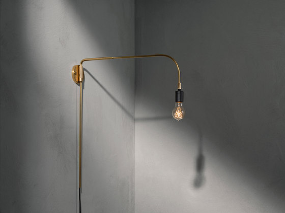 Tribeca Series | Walker Ceiling/Wall Lamp Short Black by MENU