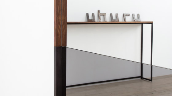 Waterline Mirror Round by Uhuru Design