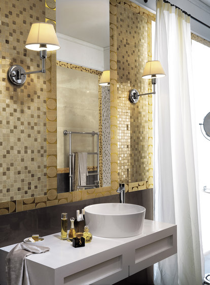 Evoque Tratto Copper Mosaico Wall by Fap Ceramiche