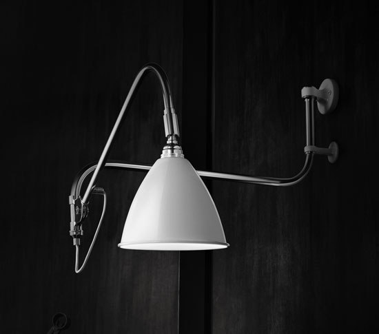 Bestlite BL5 Wall lamp | Matt White/Brass von GUBI