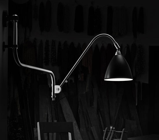 Bestlite BL3 S Floor lamp | Black Brass/Bone China von GUBI