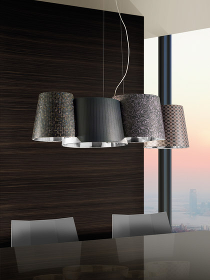 Melting Pot SP 115 dark patterns with diffusers de Axolight