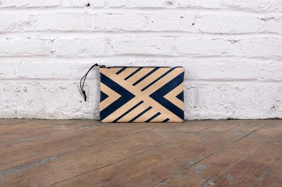 Blue Geometric Rug - Half Hide by AVO