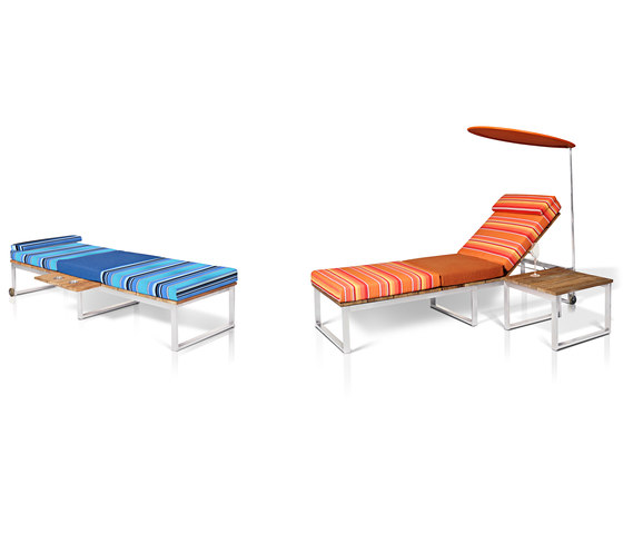 Oko Lounge double sun lounger with tray de Mamagreen