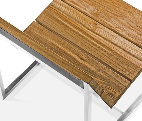 Oko dining table 90x90 cm (Base C - diagonal) by Mamagreen