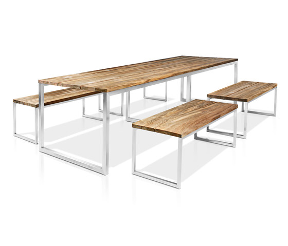 Oko dining table 240x90 cm (random laminated top) by Mamagreen