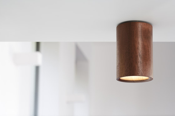 Solid | Downlight Cone in Black Stained Oak by Terence Woodgate