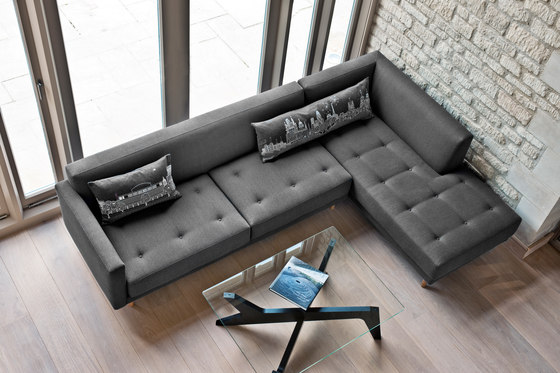 Metropolis 3 seat sofa + corner unit by Case Furniture